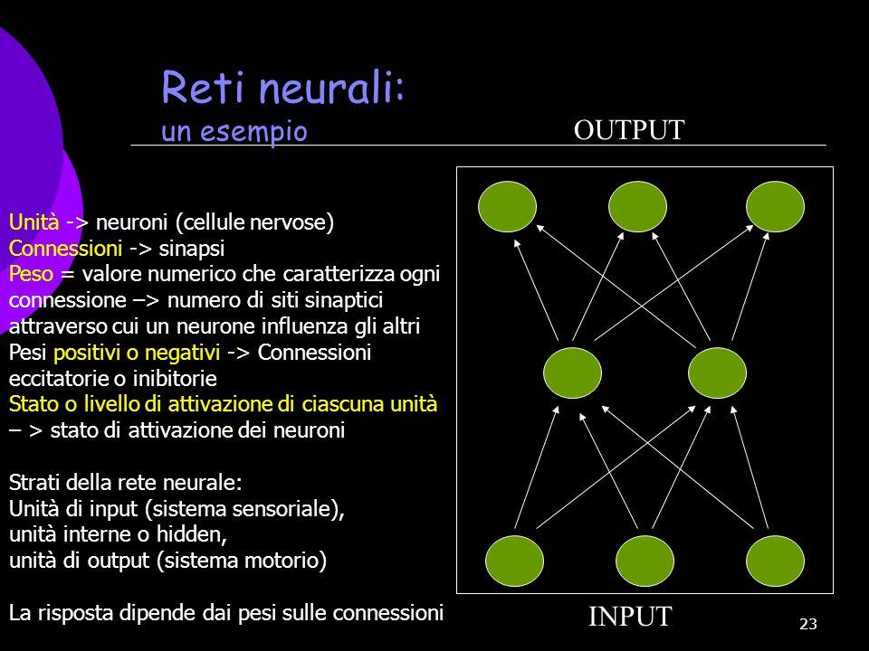 Reti neurali: un esempio