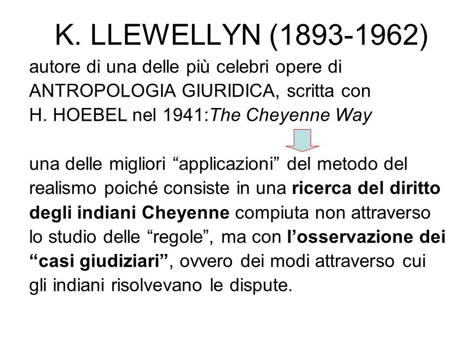 K. LLEWELLYN (1893-1962) autore di una delle più celebri opere di