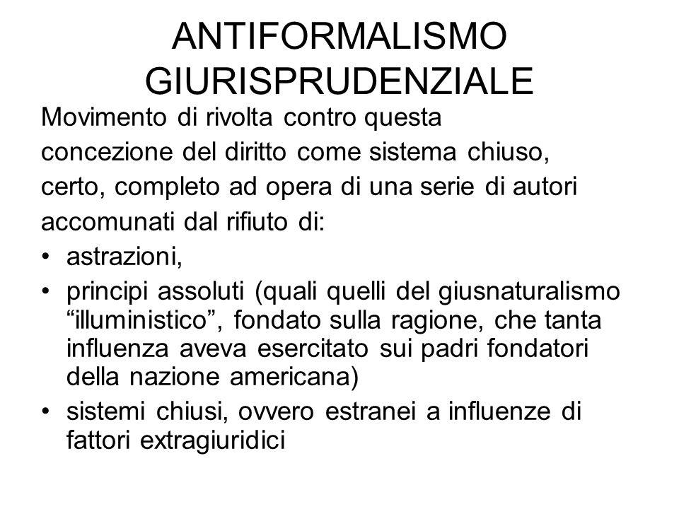 ANTIFORMALISMO GIURISPRUDENZIALE