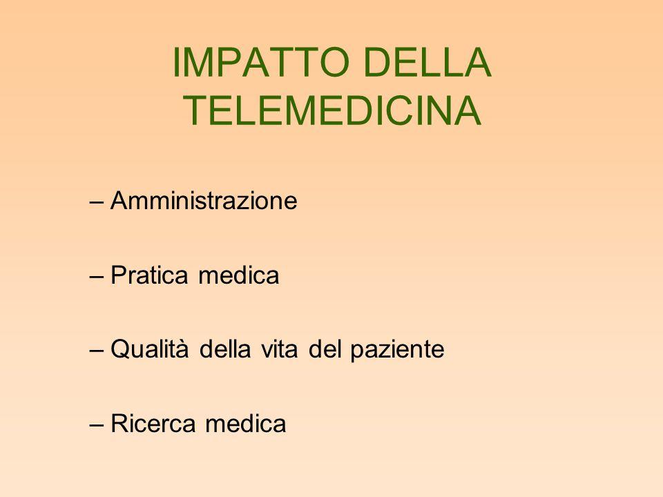 IMPATTO DELLA TELEMEDICINA