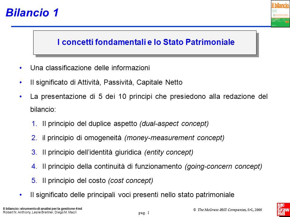 Bilancio 1 I concetti fondamentali e lo Stato Patrimoniale