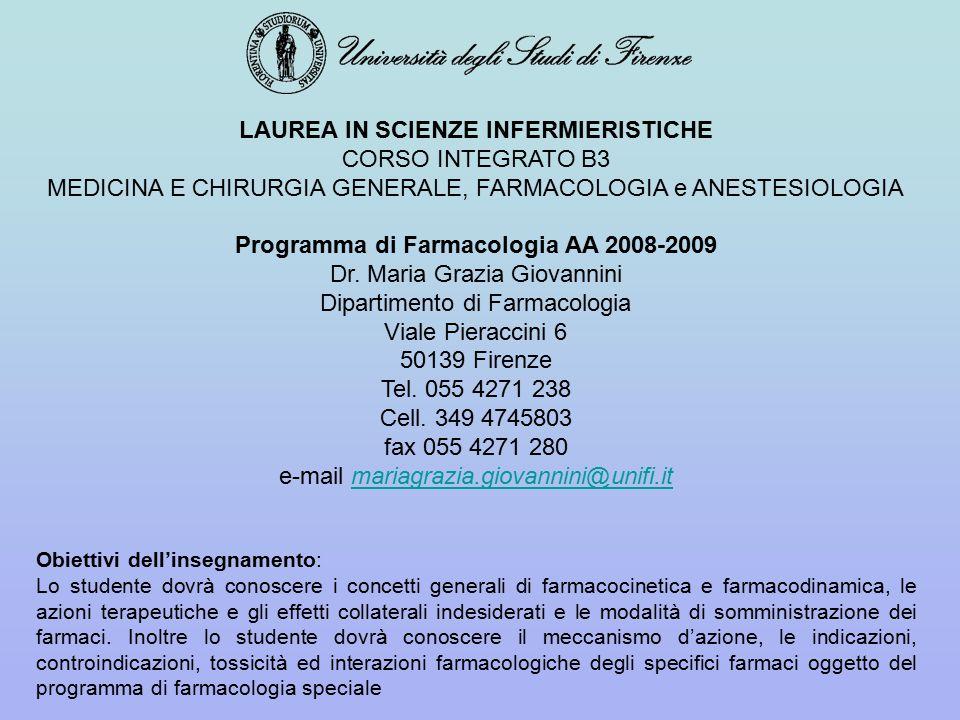 LAUREA IN SCIENZE INFERMIERISTICHE CORSO INTEGRATO B3