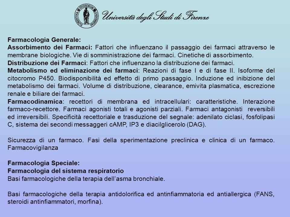Farmacologia Generale: