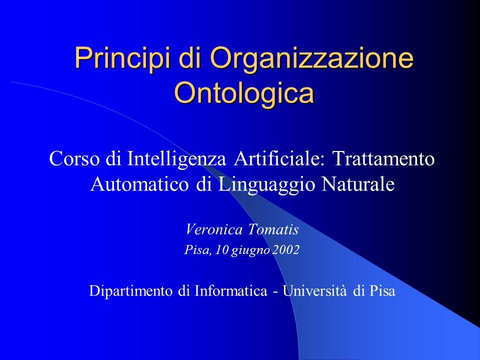Principi di Organizzazione Ontologica