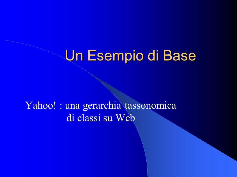 Yahoo! : una gerarchia tassonomica di classi su Web