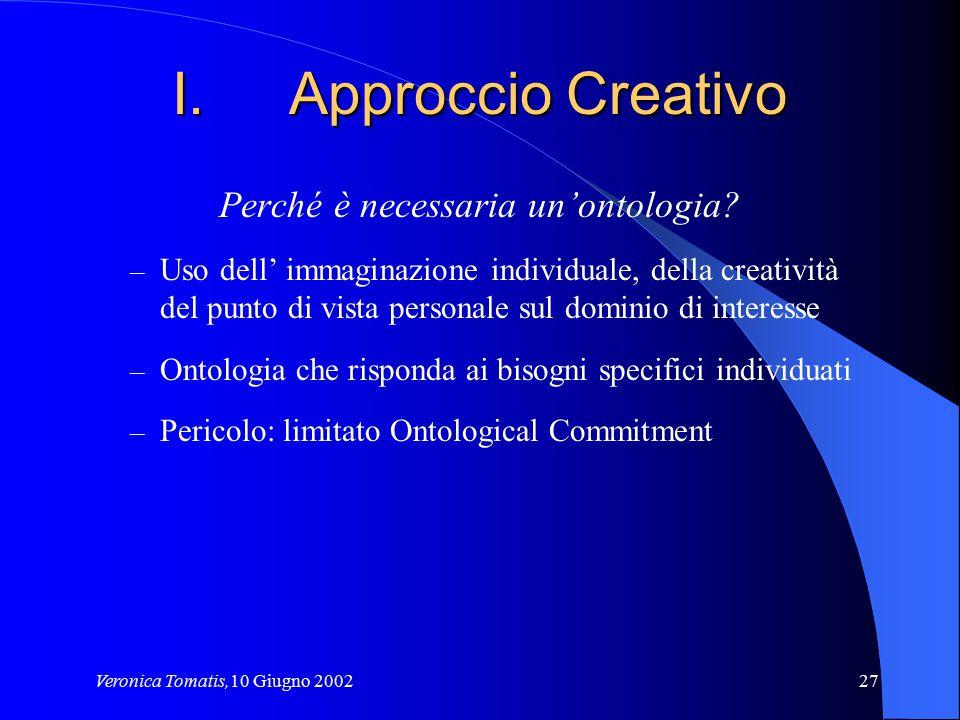 Approccio Creativo Perché è necessaria un'ontologia
