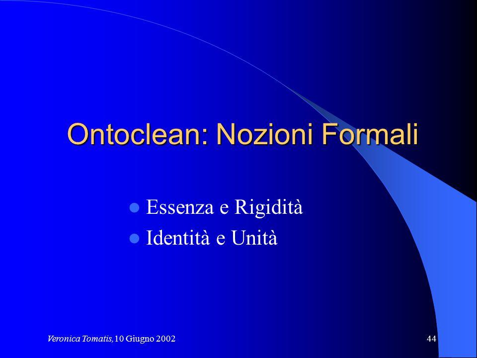 Ontoclean: Nozioni Formali