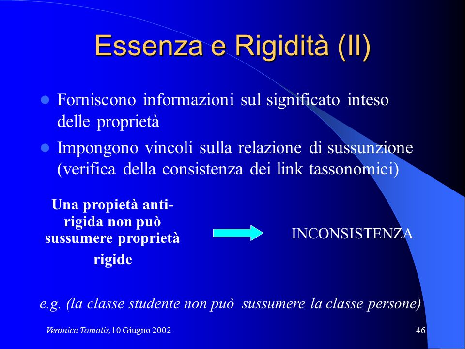 Essenza e Rigidità (II)