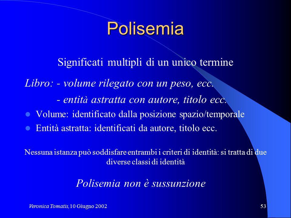 Polisemia Significati multipli di un unico termine