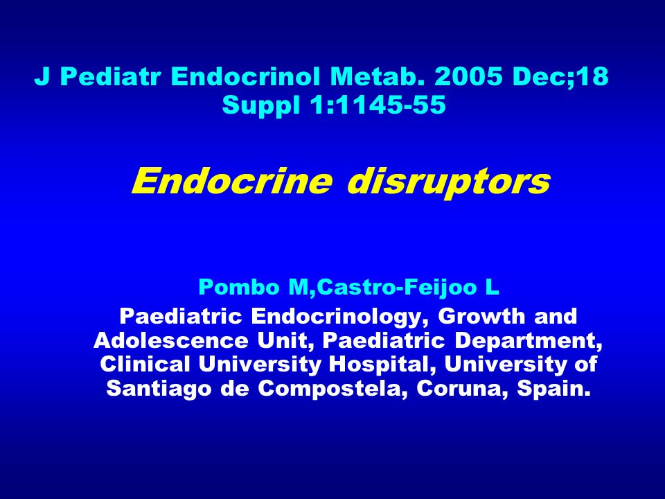 J Pediatr Endocrinol Metab. 2005 Dec;18 Suppl 1:1145-55