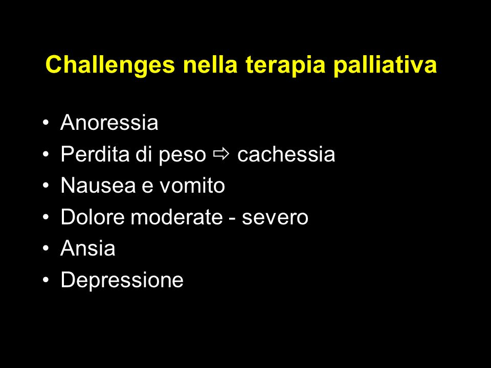 Challenges nella terapia palliativa