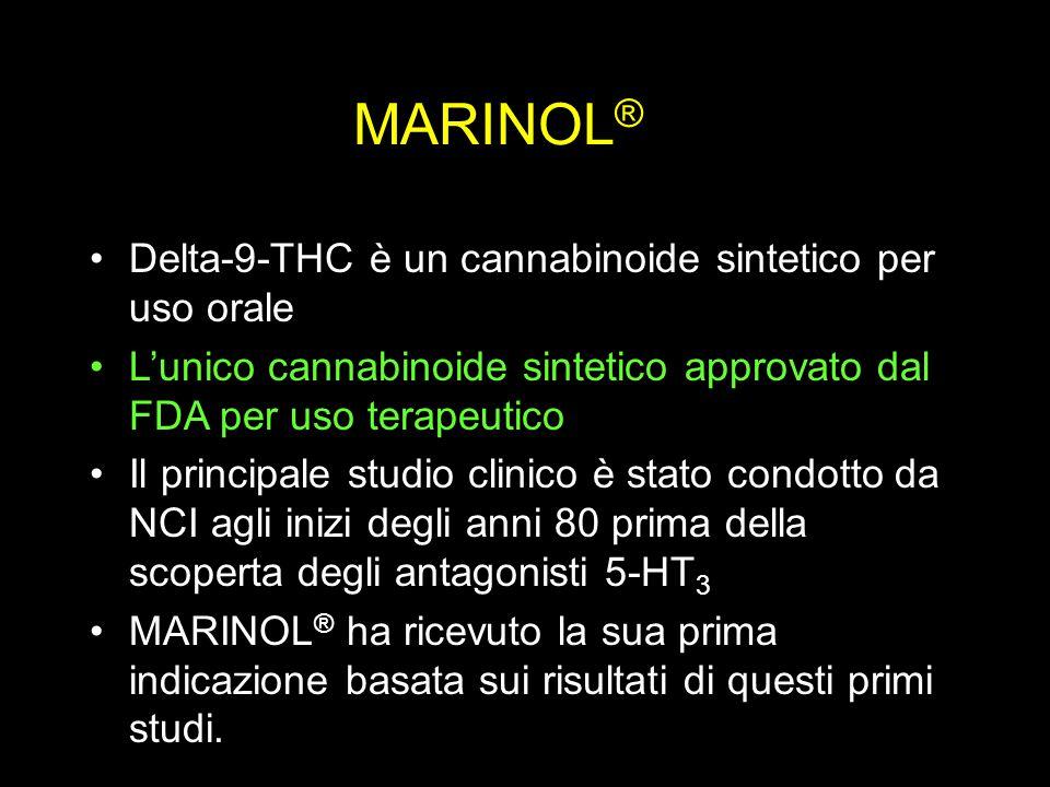 MARINOL® Delta-9-THC è un cannabinoide sintetico per uso orale