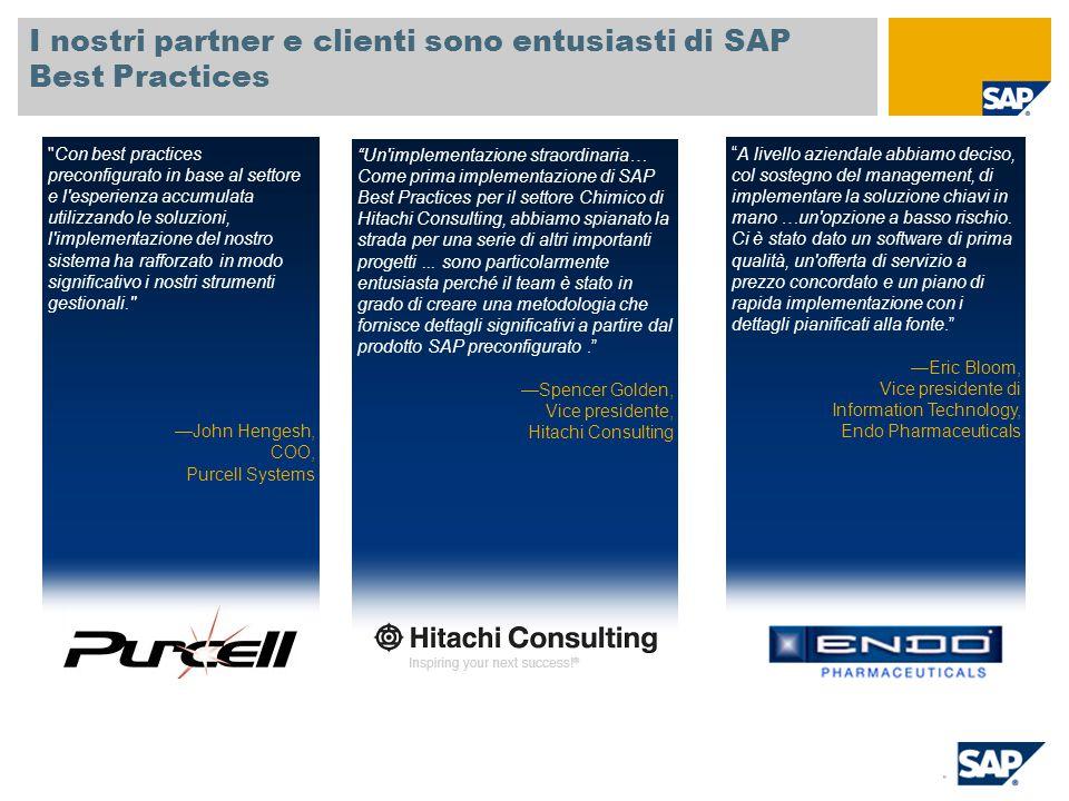 I nostri partner e clienti sono entusiasti di SAP Best Practices