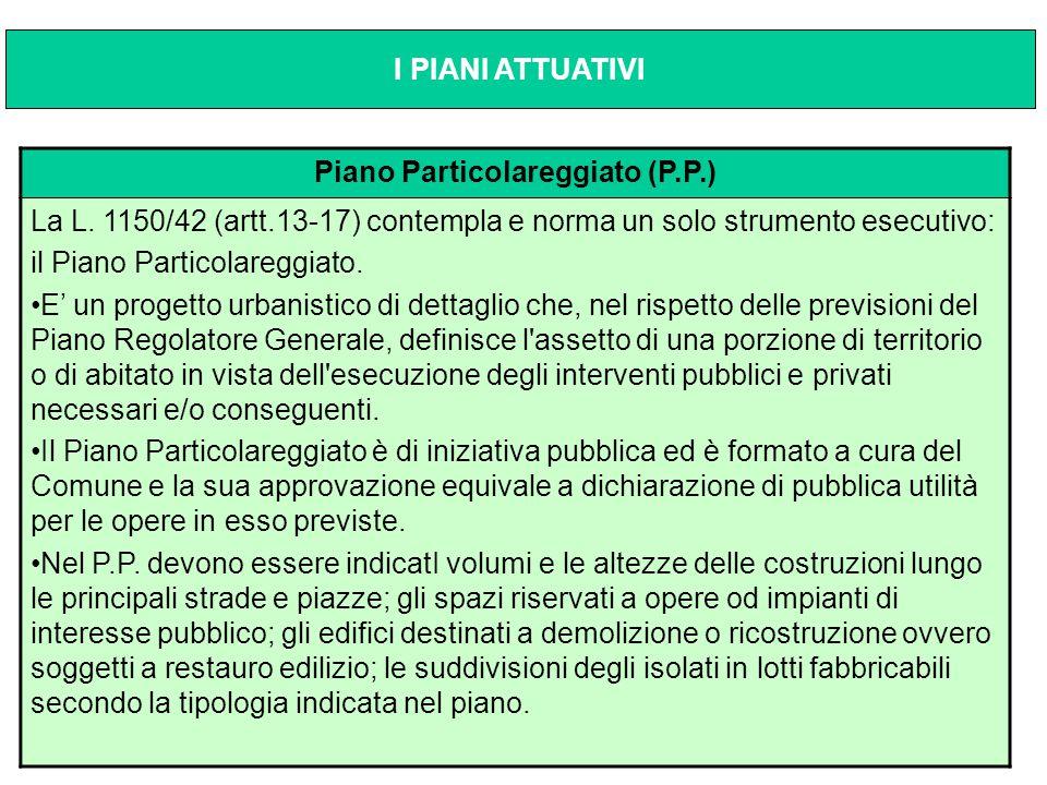 Piano Particolareggiato (P.P.)
