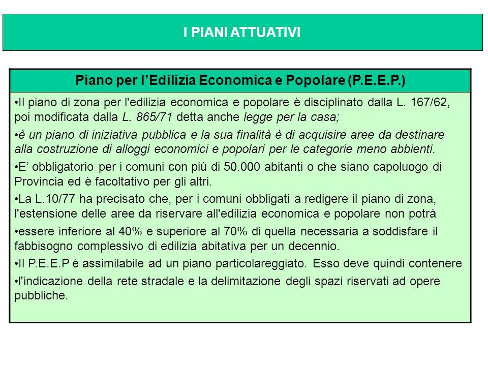 Piano per l'Edilizia Economica e Popolare (P.E.E.P.)