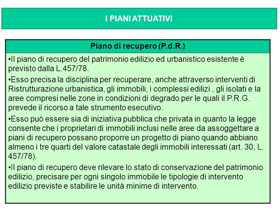 Piano di recupero (P.d.R.)