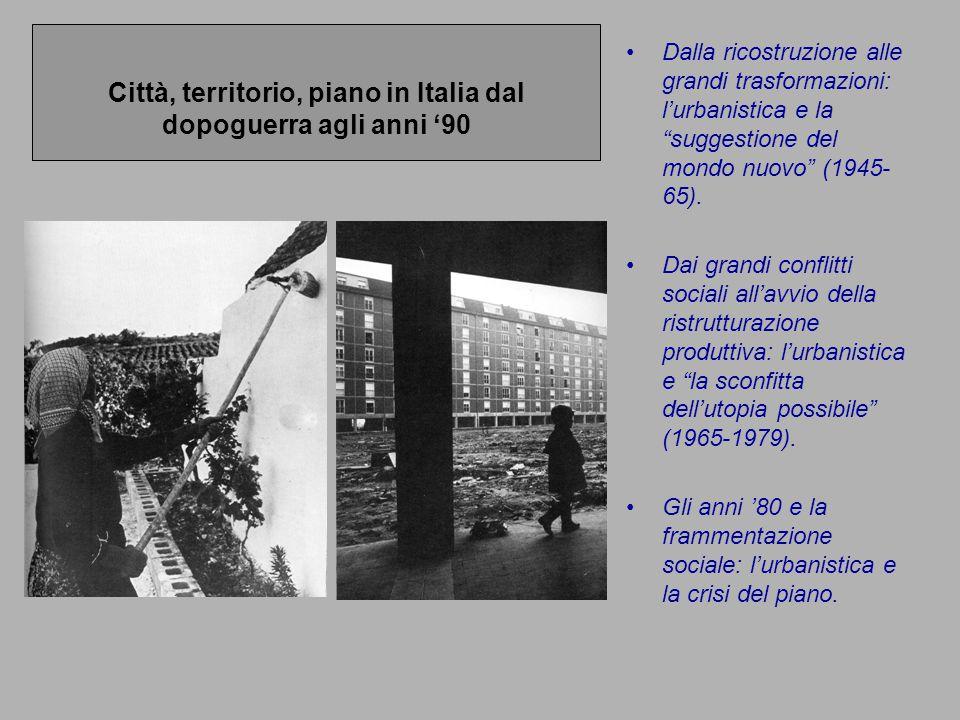 Città, territorio, piano in Italia dal dopoguerra agli anni '90