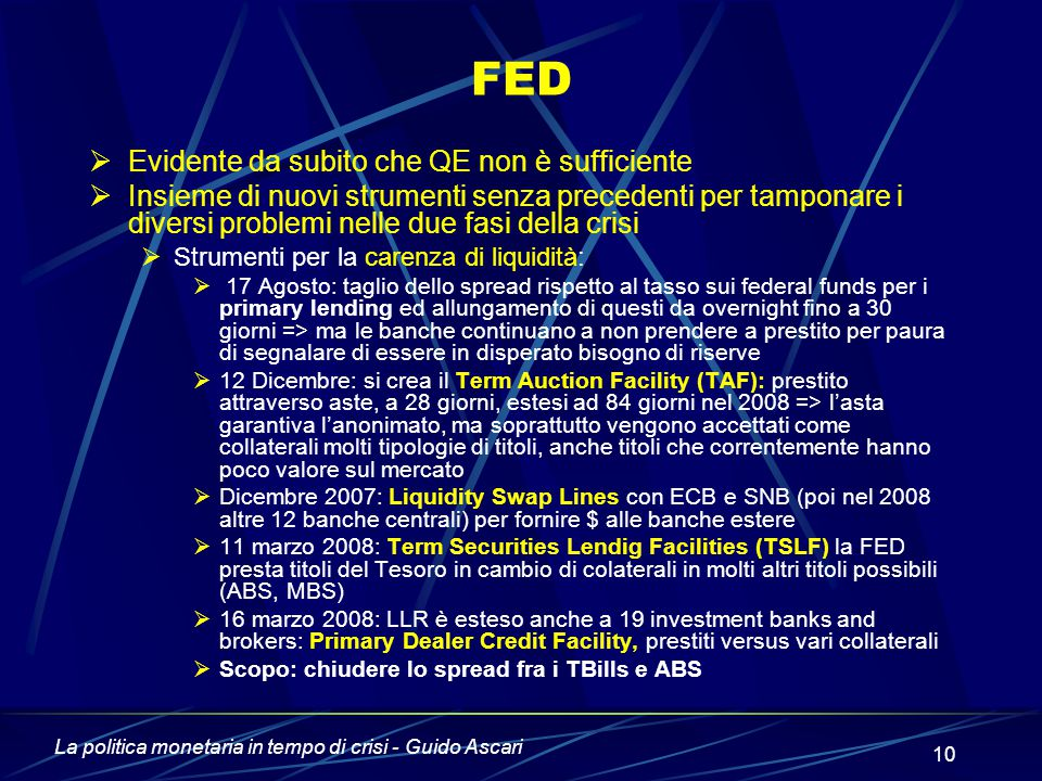 FED Evidente da subito che QE non è sufficiente