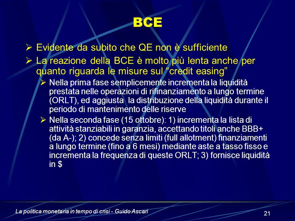 BCE Evidente da subito che QE non è sufficiente