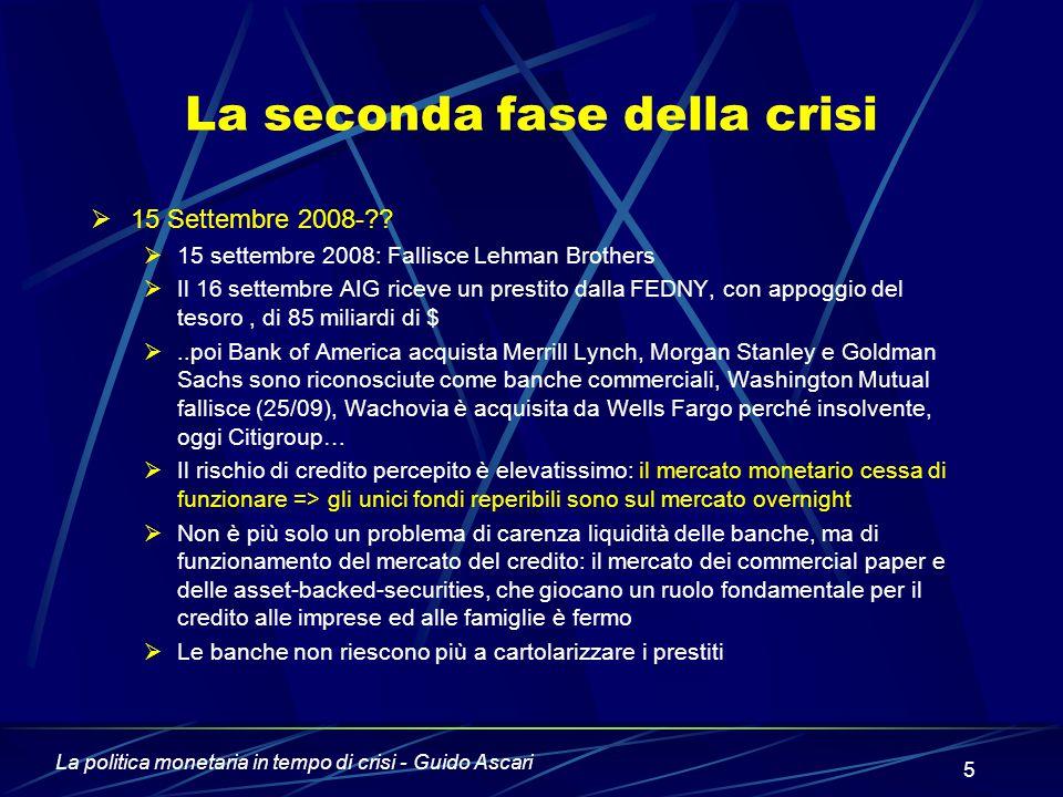 La seconda fase della crisi