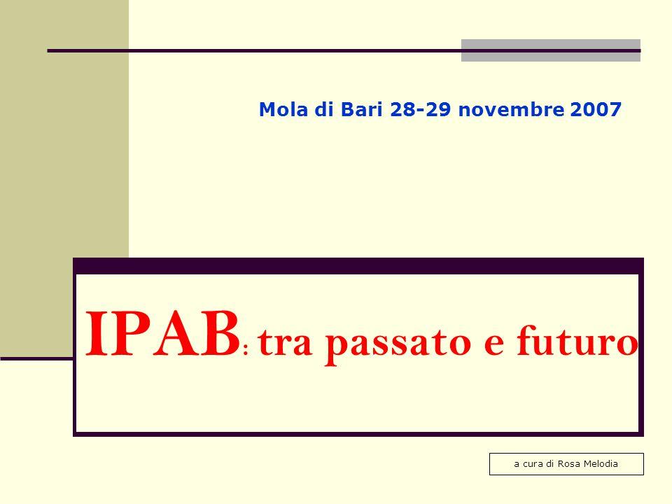 IPAB: tra passato e futuro