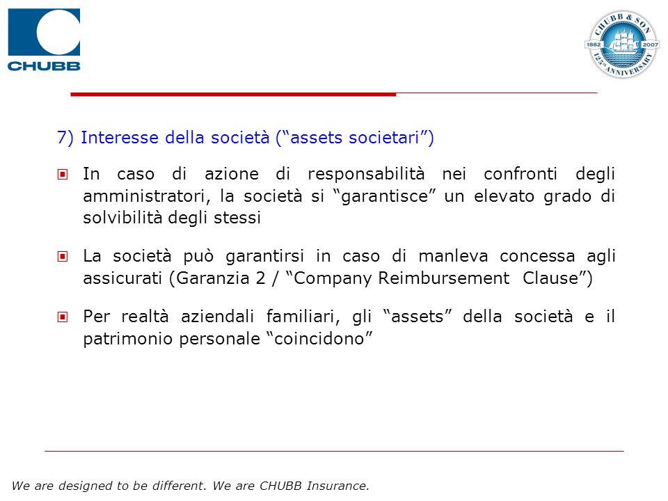 7) Interesse della società ( assets societari )