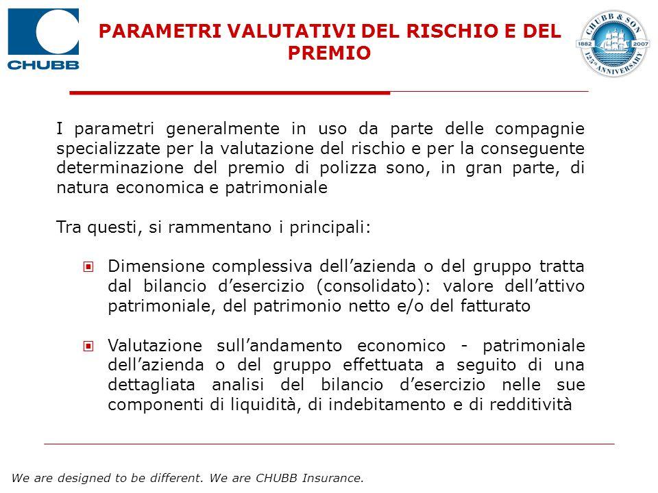 PARAMETRI VALUTATIVI DEL RISCHIO E DEL PREMIO