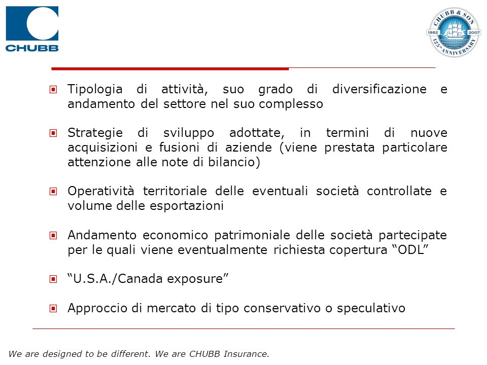 Tipologia di attività, suo grado di diversificazione e andamento del settore nel suo complesso