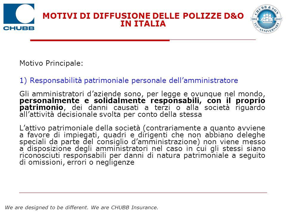 MOTIVI DI DIFFUSIONE DELLE POLIZZE D&O IN ITALIA