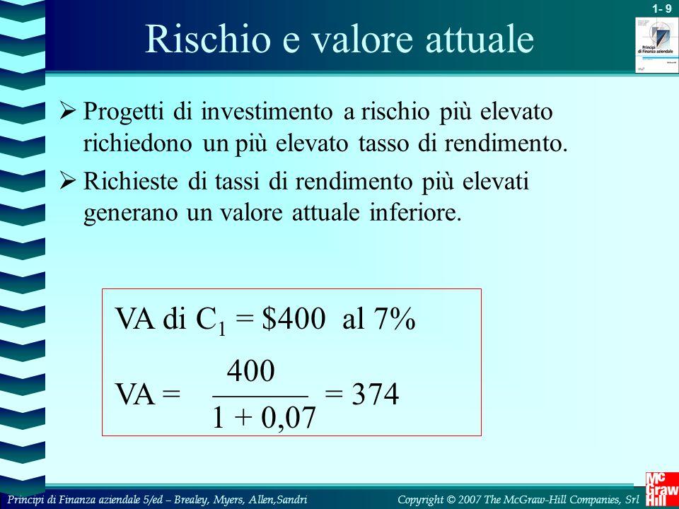 Rischio e valore attuale