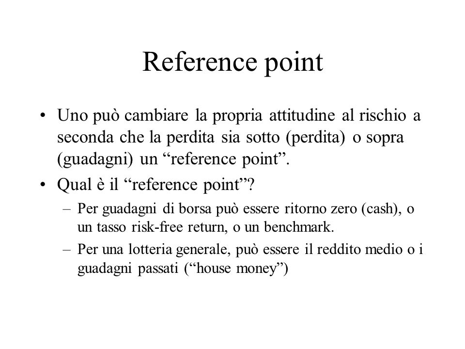 Reference point