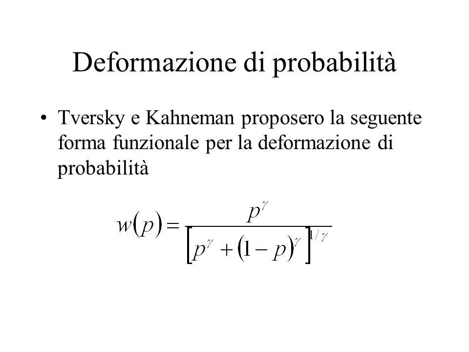 Deformazione di probabilità