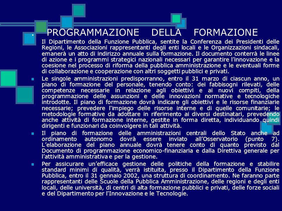 . PROGRAMMAZIONE DELLA FORMAZIONE