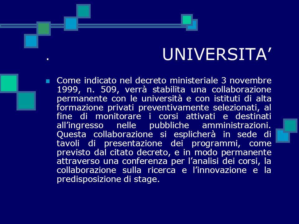 . UNIVERSITA'