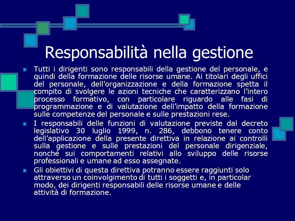 Responsabilità nella gestione