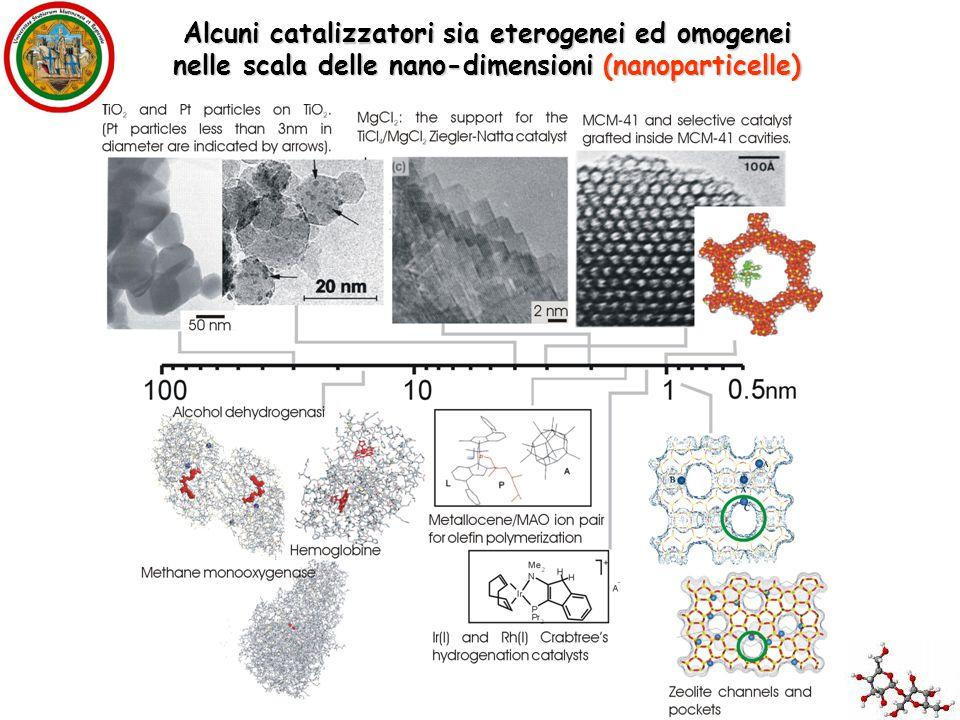 Alcuni catalizzatori sia eterogenei ed omogenei
