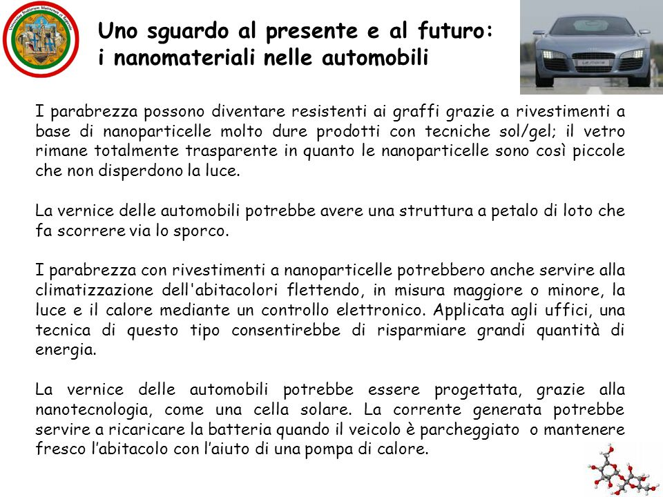 Uno sguardo al presente e al futuro: i nanomateriali nelle automobili