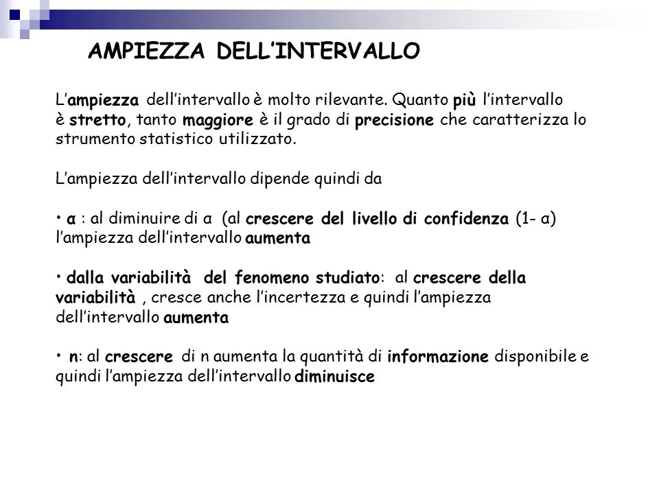 AMPIEZZA DELL'INTERVALLO