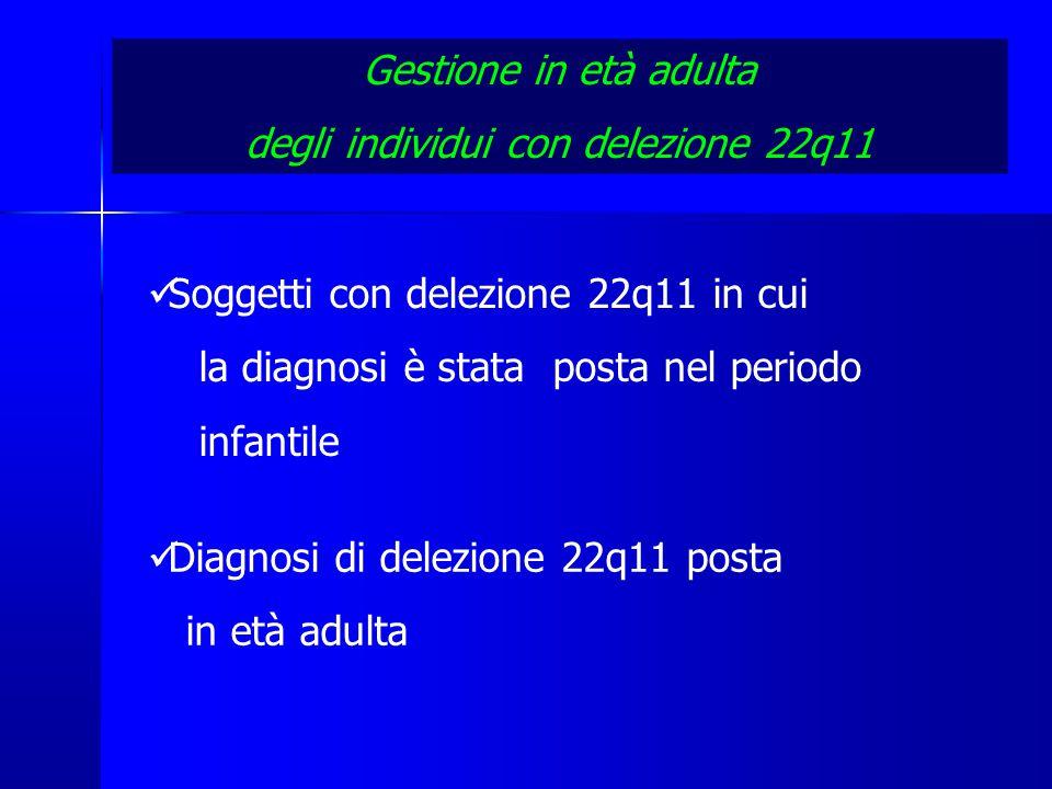 degli individui con delezione 22q11