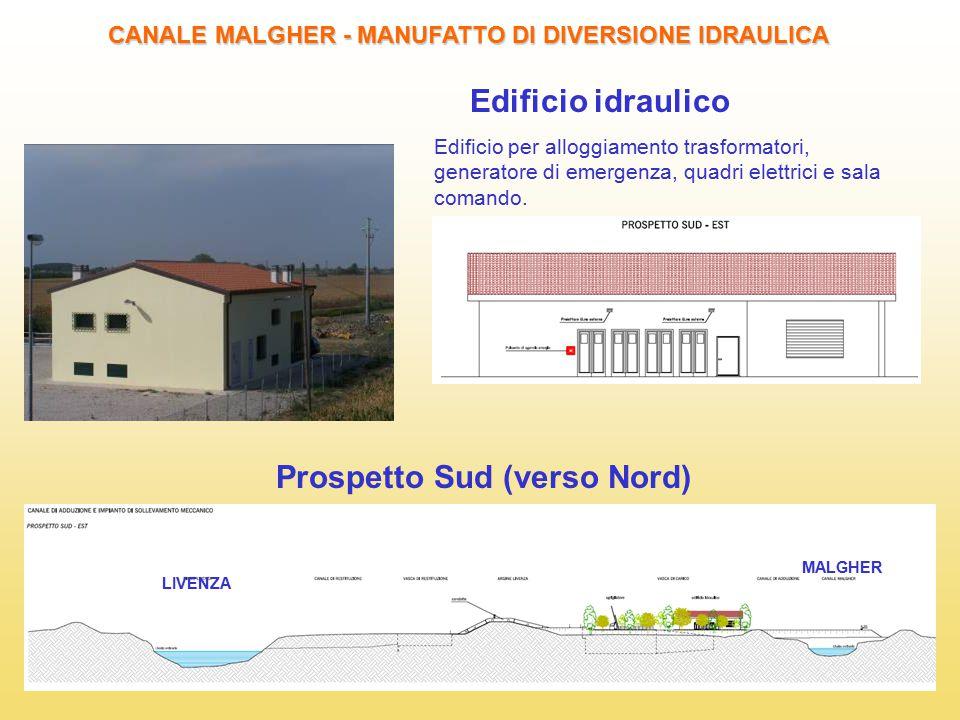 Edificio idraulico Prospetto Sud (verso Nord)