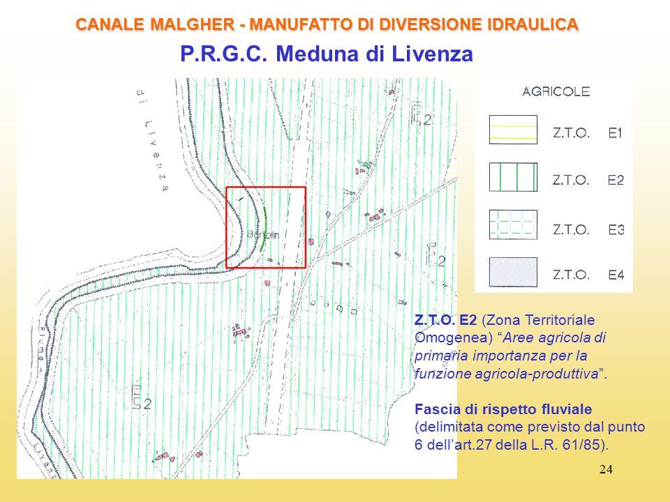 CANALE MALGHER - MANUFATTO DI DIVERSIONE IDRAULICA
