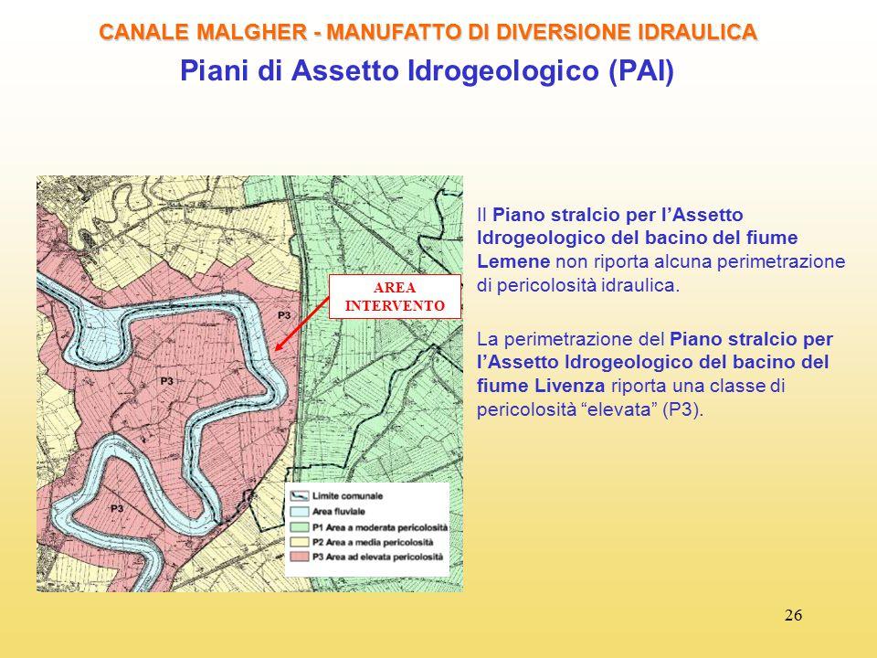 Piani di Assetto Idrogeologico (PAI)
