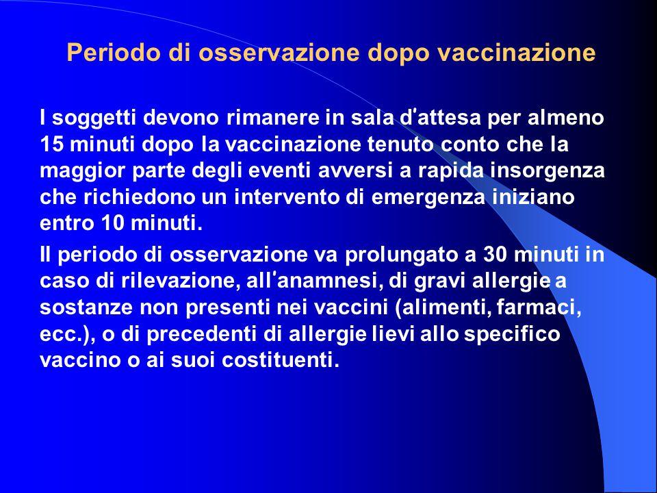 Periodo di osservazione dopo vaccinazione