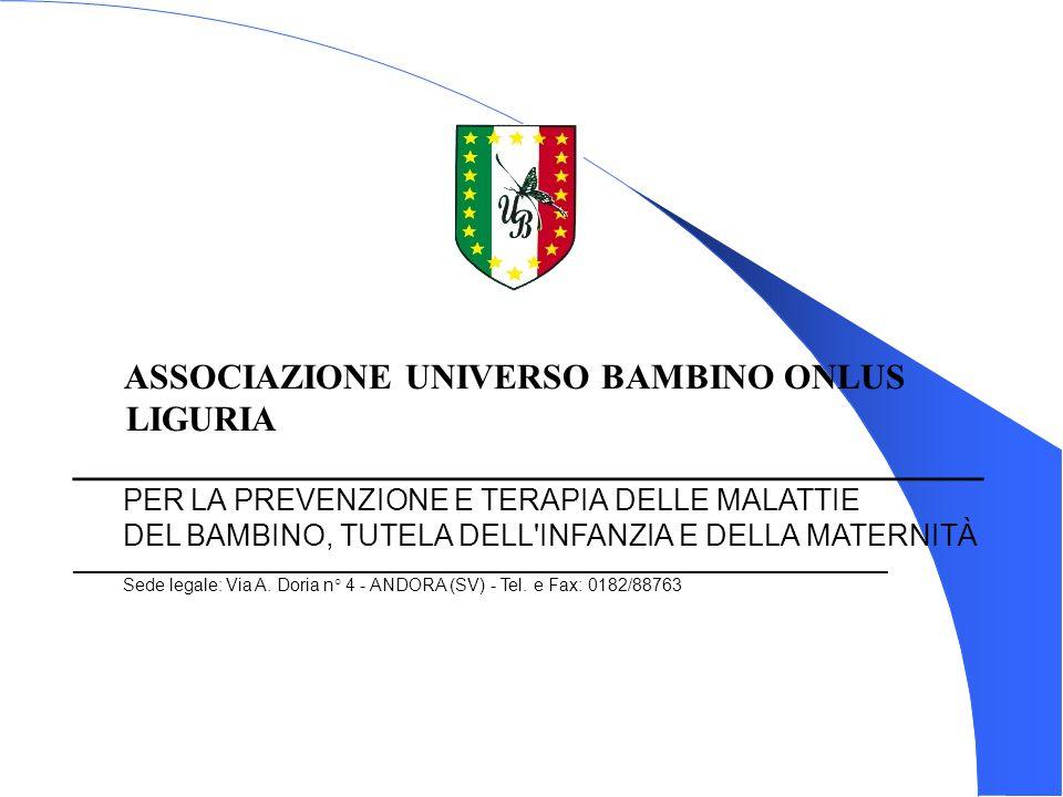 ASSOCIAZIONE UNIVERSO BAMBINO ONLUS LIGURIA