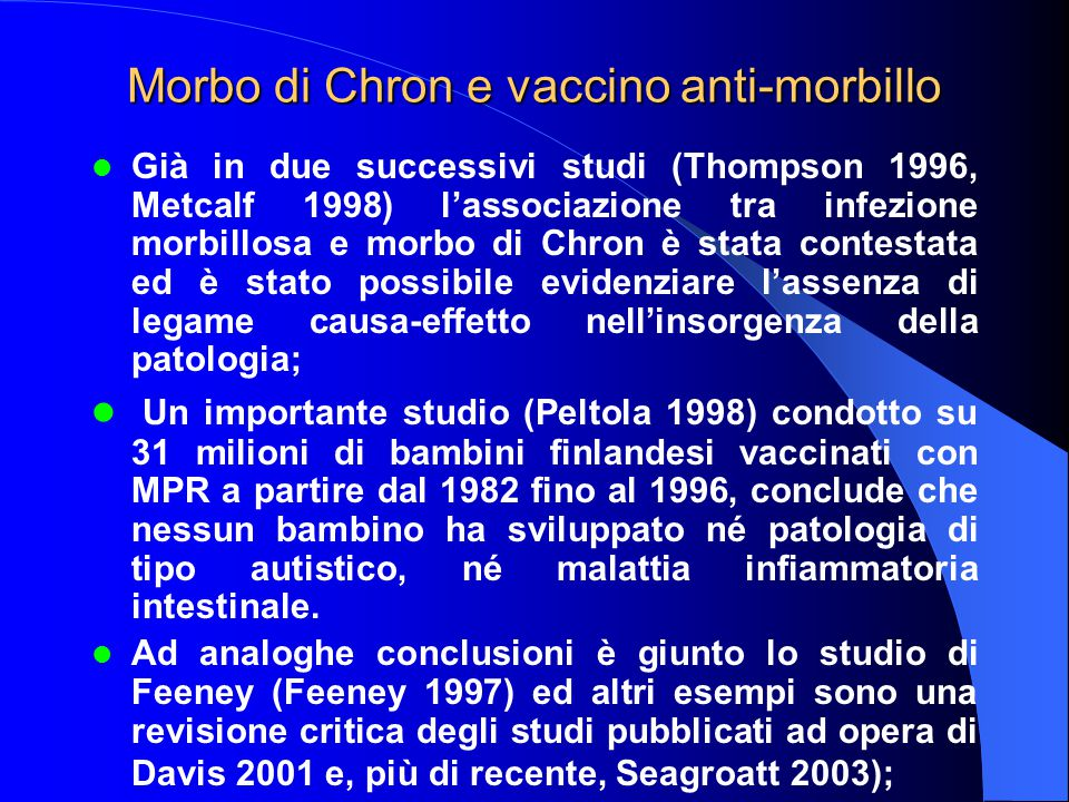 Morbo di Chron e vaccino anti-morbillo
