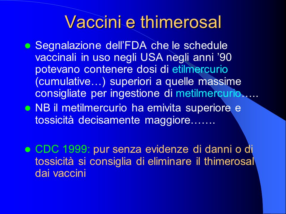 Vaccini e thimerosal