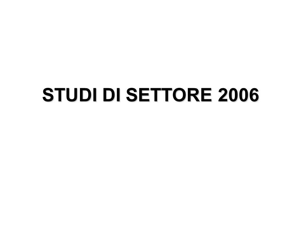 STUDI DI SETTORE 2006