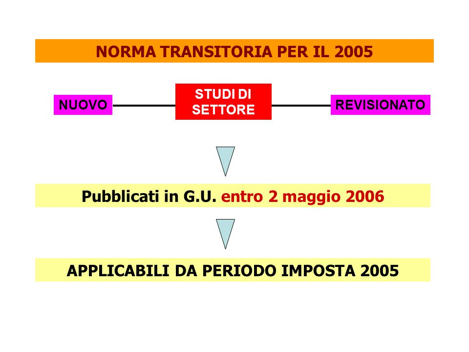 NORMA TRANSITORIA PER IL 2005