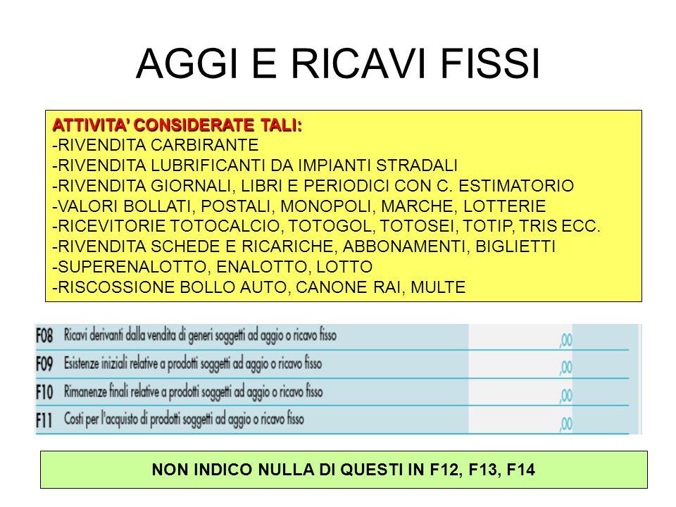 NON INDICO NULLA DI QUESTI IN F12, F13, F14