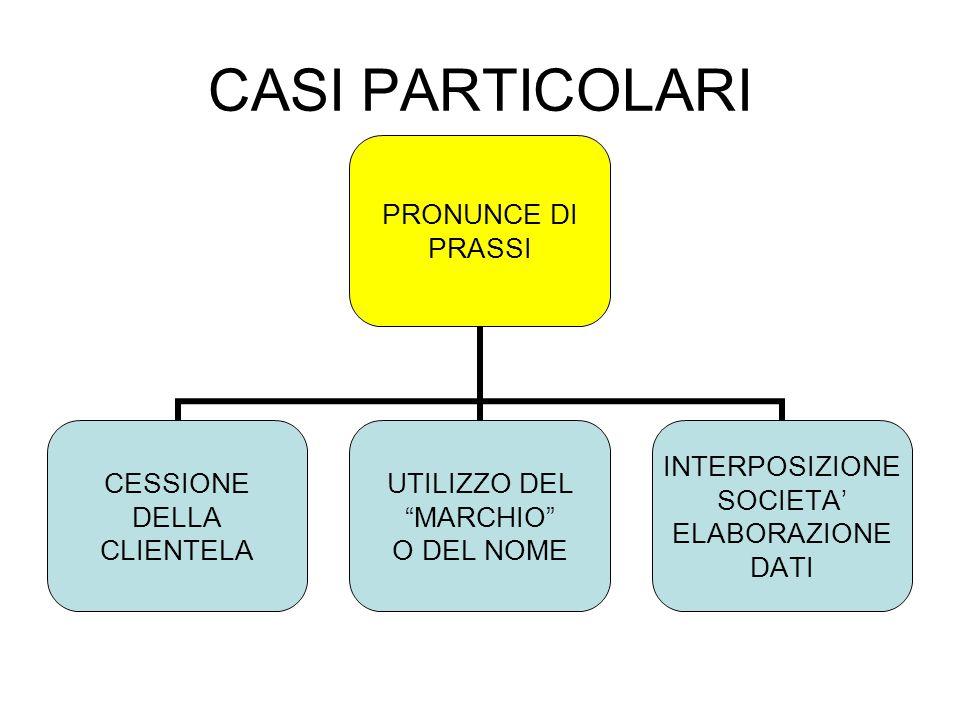 CASI PARTICOLARI
